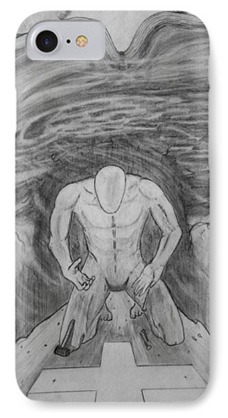 IPhone Case featuring the drawing Whom Shall I Fear Part 1 by Justin Moore