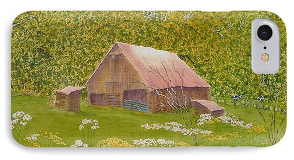 IPhone Case featuring the painting Whose Barn - What Barn - My Barn  by Joel Deutsch