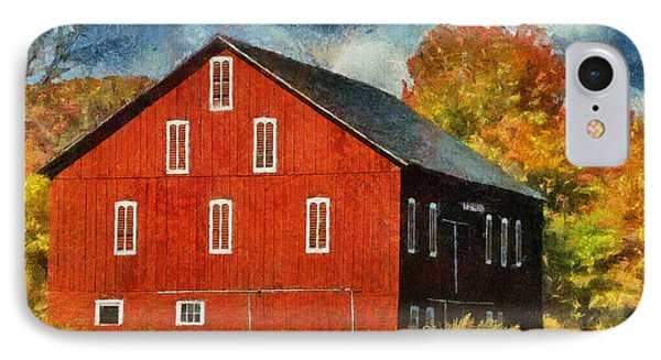 Why Do They Paint Barns Red? Phone Case by Lois Bryan