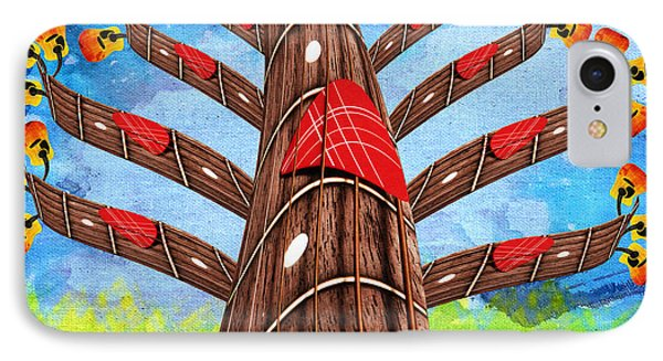 Why Pick On Me Guitar Abstract Tree IPhone Case by Andee Design