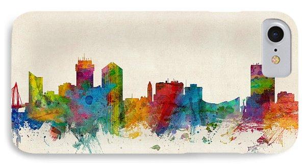 Wichita Kansas Skyline IPhone Case by Michael Tompsett