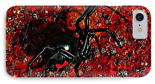 Wicked Widow - Rouge Phone Case by Al Powell Photography USA