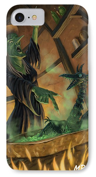 Wicked Witch Casting Spell IPhone Case by Martin Davey