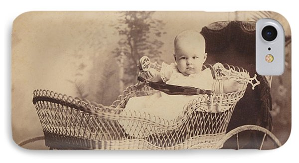 IPhone Case featuring the photograph Wicker Baby Pram by Paul Ashby Antique Image