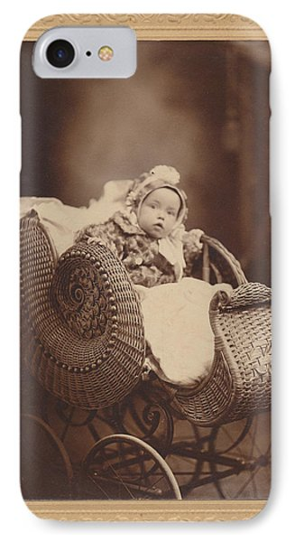 IPhone Case featuring the photograph Wicker Pram by Paul Ashby Antique Image