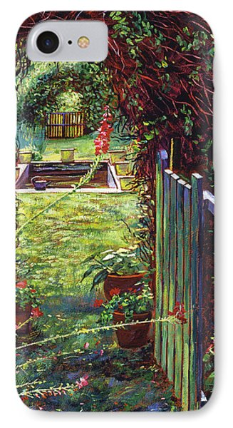 Wicket Garden Gate IPhone Case by David Lloyd Glover
