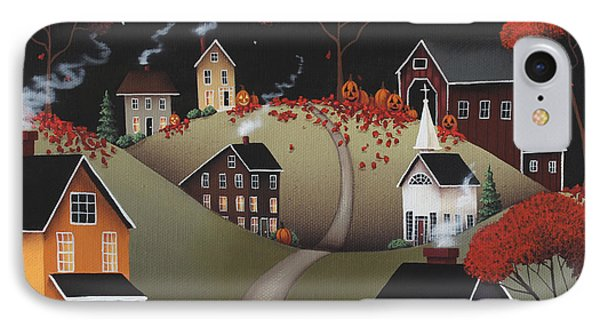 Wickford Village Halloween Ll IPhone Case by Catherine Holman