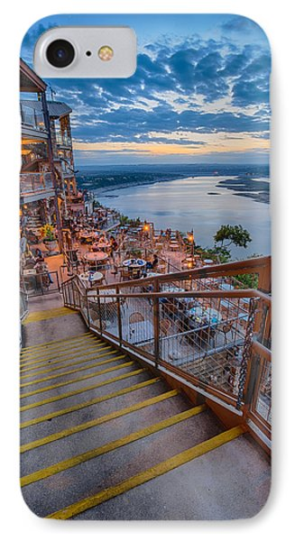 Wide Angle View Of The Oasis And Lake Travis - Austin Texas IPhone Case by Silvio Ligutti