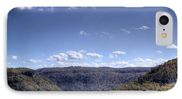 Wide Shot Of Tree Covered Hills IPhone Case by Jonny D