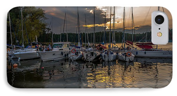 Wierzba Yacht Marina In The Afternoon IPhone Case by Julis Simo