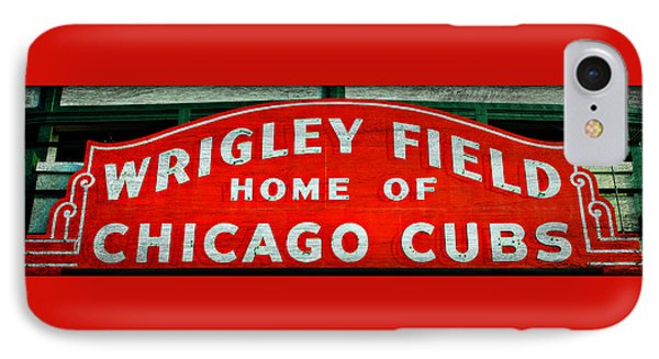 Wrigley Field Sign -- No.3 IPhone Case by Stephen Stookey