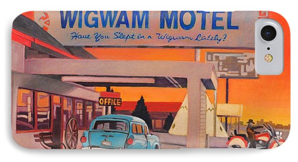 IPhone Case featuring the painting Wigwam Motel by Art James West