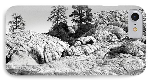 Willow Lake Number One Bw IPhone Case by Heather Kirk