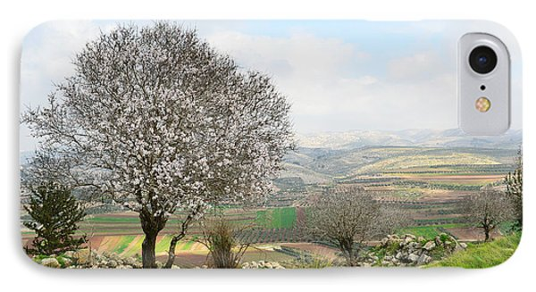 Wild Almond Tree In Beautiful Scenery IPhone Case