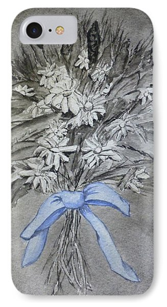 IPhone Case featuring the painting Wild Blue Flowers by Kelly Mills