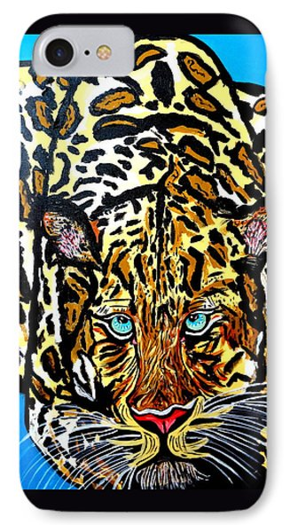 IPhone Case featuring the painting Wild Cat by Nora Shepley