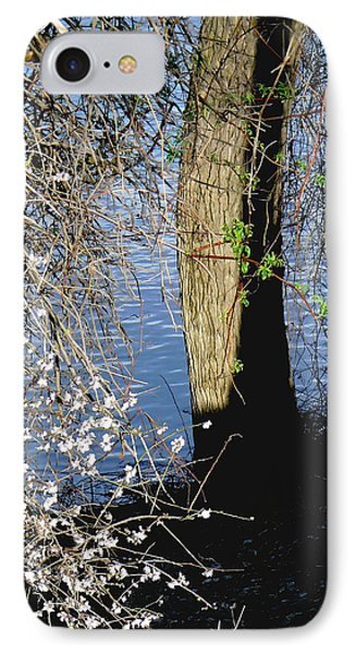Wild Cherry Tree On The Sacramento River  IPhone Case by Pamela Patch