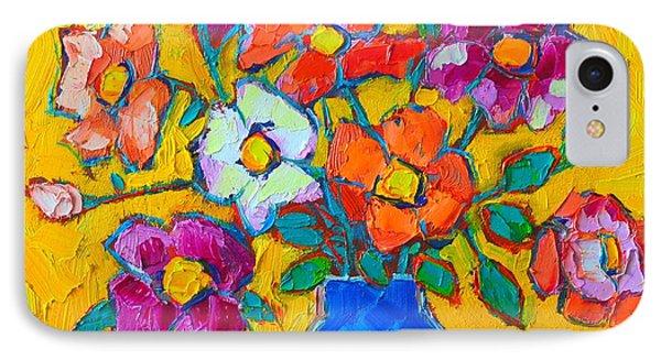 Wild Colorful Roses Phone Case by Ana Maria Edulescu