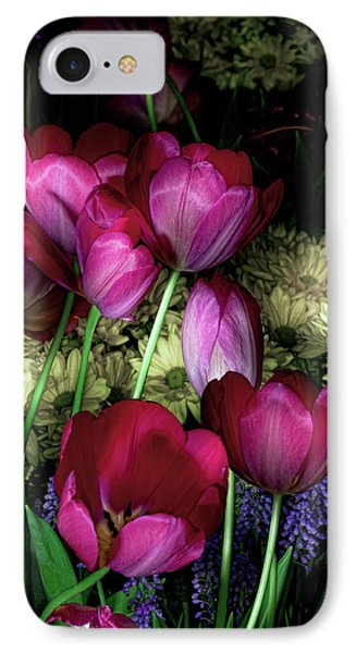 Wild Crazy Beautiful Tulip Garden IPhone Case by Linda Matlow