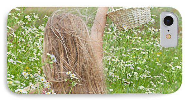 Wild Daisy Field Phone Case by Maria Dryfhout