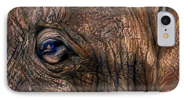Wild Eyes - African Elephant IPhone Case by Carol Cavalaris