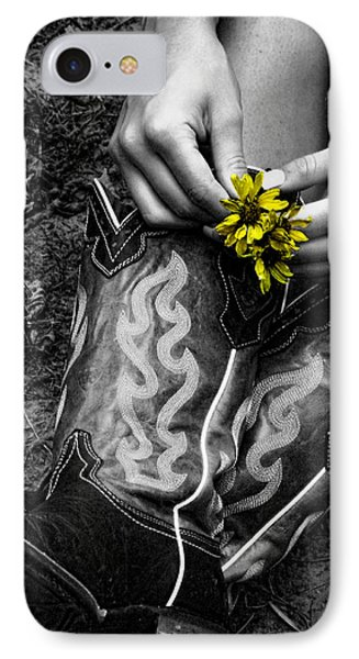 Wild Flower Boots Phone Case by Kristie  Bonnewell