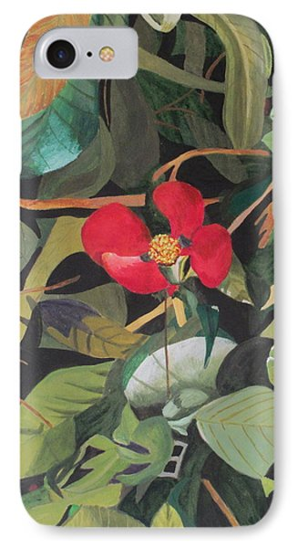 IPhone Case featuring the painting Wild Flower by Hilda and Jose Garrancho