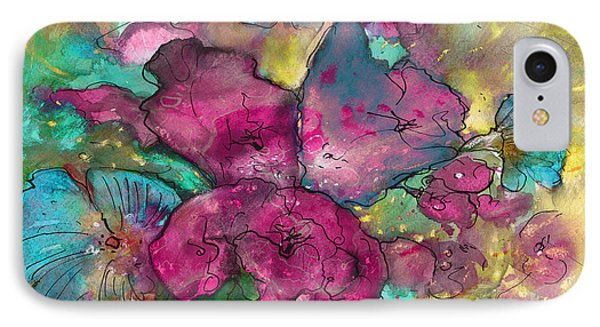 Wild Flowers 11 IPhone Case by Miki De Goodaboom
