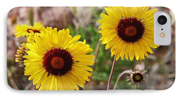 Wild Flowers Above The Rim IPhone Case by Tom Janca