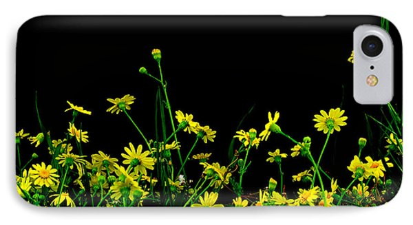 IPhone Case featuring the photograph Wild Flowers At Night by Marwan Khoury