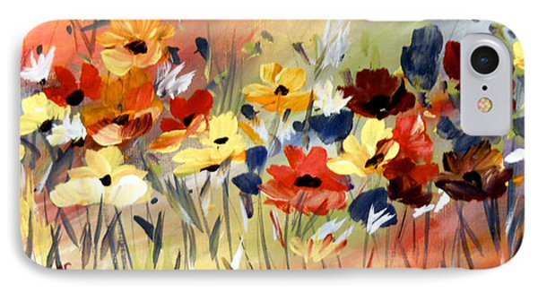IPhone Case featuring the painting Wild Flowers by Dorothy Maier