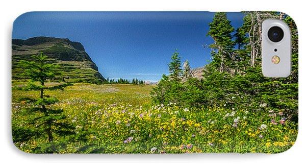 Wild Flowers Glacier National Paintedpark   Phone Case by Rich Franco