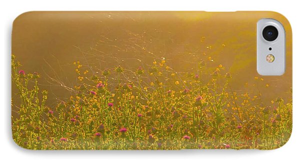 Wild Flowers With Webs IPhone Case by Deprise Brescia