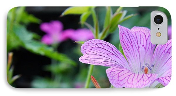 IPhone Case featuring the photograph Wild Geranium Flowers by Clare Bevan