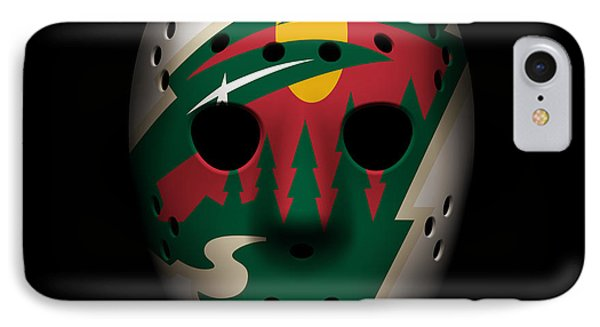 Wild Goalie Mask IPhone Case by Joe Hamilton