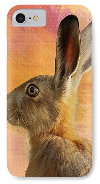 Wild Hare Phone Case by Tanya Hall