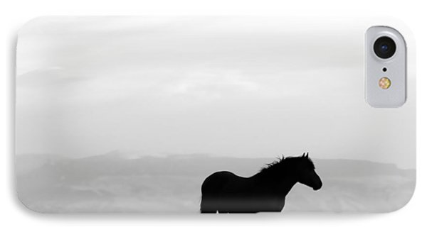 Wild Horse Silhouette Bw IPhone Case