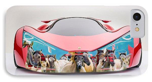 Wild Horses Ferrari F80 IPhone Case by Marvin Blaine