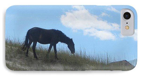 Wild Horses Of Corolla 3 Phone Case by Cathy Lindsey