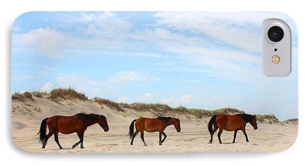 Wild Horses Of Corolla - Outer Banks Obx IPhone Case