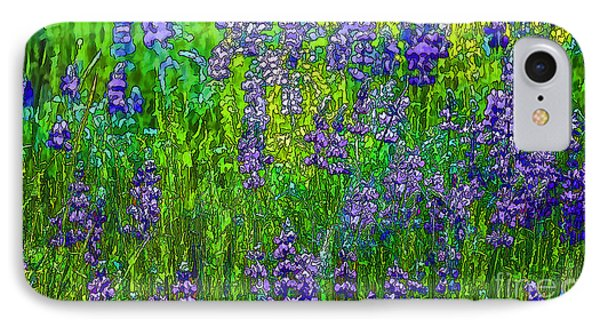 Wild Lupine IPhone Case by Nancy Marie Ricketts