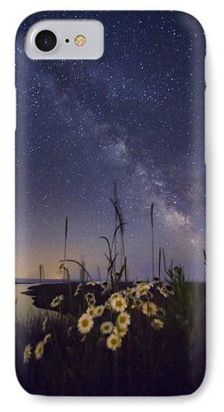 Wild Marguerites Under The Milky Way IPhone Case by Mircea Costina Photography