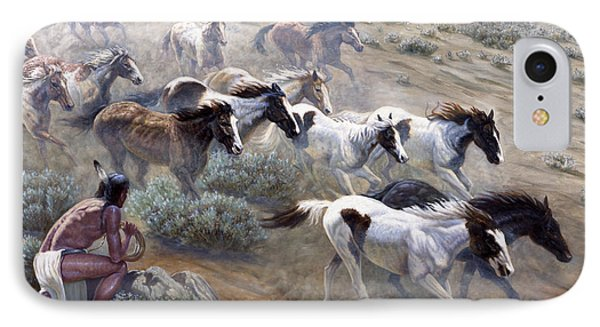 Wild Mustangs IPhone Case by Gregory Perillo