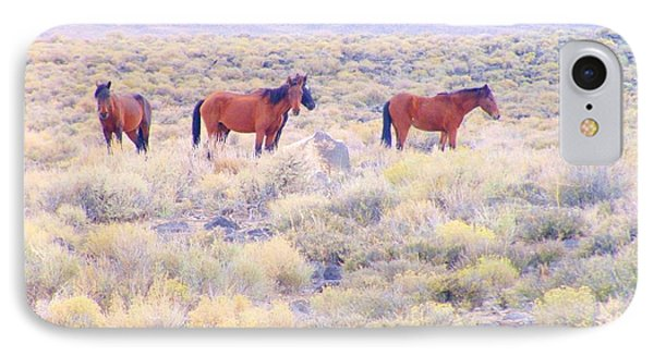 Wild Mustangs IPhone Case by Marilyn Diaz