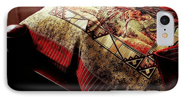 Wild Mustangs On A Quilt IPhone Case by Barbara Griffin