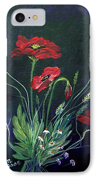 IPhone Case featuring the painting Wild Poppies Bouquet by Dorothy Maier