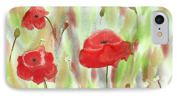 Wild Poppies Phone Case by Tracey Williams
