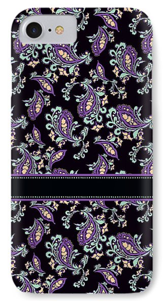 Wild Purple Paisley IPhone Case by Jenny Armitage