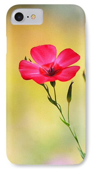 Wild Red Flower IPhone Case by Tom Janca