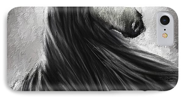 Wild Soul- Fine Art Horse Artwork IPhone Case by Lourry Legarde